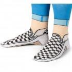 Sneaker Socken in schwarz-weiß in 35,5-41 im Paar