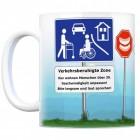 Verkehrsberuhigte Zone 30. Geburtstag Kaffeebecher