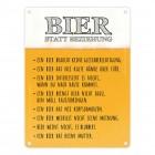 Metallschild mit Spruch: Bier statt Beziehung