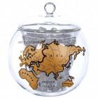 Weltkugel Eiswürfelbehälter in gold