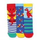 Drachen Socken in 27-30 im 3er Set