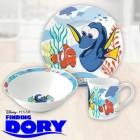 Findet Dorie Geschirrset mit Teller, Schale und Kaffeebecher