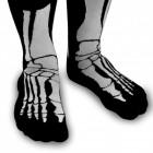 Skelett Socken - Silly Socks mit Knochen