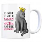 Kaffeebecher mit Katze Motiv und Spruch: Es gibt so viele Katzen, doch ...