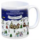 Büdingen, Hessen Weihnachten Kaffeebecher mit winterlichen Weihnachtsgrüßen