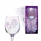 Einhorn Weinglas mit Geschenkverpackung
