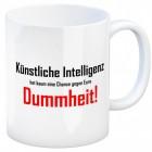 Zitat Kaffeebecher mit Spruch: Künstliche Intelligenz ...
