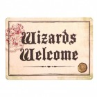 Harry Potter Wizards Welcome Metallschild