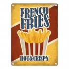 Metallschild mit American Diner Classics - French Fries Motiv