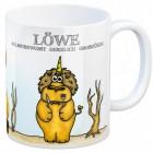 Sternzeichen Kaffeebecher mit Einhorn Löwe Motiv