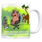Kaffeebecher mit Spruch: Meinen Job kann man auch als eine ...