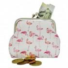 Pink Flamingos Geldbeutel mit Clipverschluss