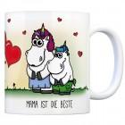 Honeycorns Kaffeebecher mit Einhorn Motiv und Spruch: Mama ist die Beste!