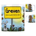 Greven, Westfalen - Einfach die geilste Stadt der Welt Kaffeebecher