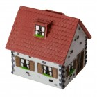 Haus Spardose in rot