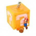 Super Mario Fragezeichenblock Labyrinth Spardose mit Figur