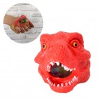 Dinosaurier Kopf Stressball mit bunten Gel-Kugeln in rot