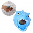 Dinosaurier Kopf Stressball mit bunten Gel-Kugeln in blau