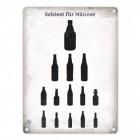 Sehtest für Männer Blechschild mit verschiedenen Bierflaschen in 15x20 cm