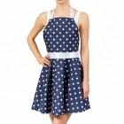 Rockabilly Kleid Kochschürze in blau mit Punkten