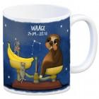 Kaffeebecher mit Faultier Sternzeichen Waage Motiv