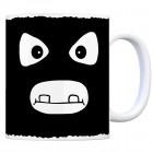 Tassengesichter Kaffeebecher mit Bankräuber Motiv