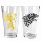Game of Thrones Stark und Lannister Gläser im 2er Set