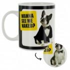 Striptease-Hund Kaffeebecher mit Wärmeeffekt