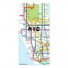 New York Karte Kühlschrankmagnete im 50er Set