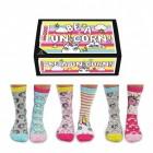 Sei ein Einhorn Oddsocks Socken in 37-42 im 6er Set