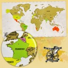 Die Rubbel Mich Weltkarte XL Rubbelkarte