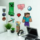 Minecraft Wandsticker im 21er Set