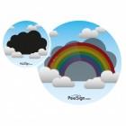 Der Wolke mit Regenbogen Urinal Aufkleber