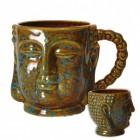 Buddha Kopf Kaffeebecher