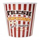 Popcorn Eimer in rot-weiß gestreift