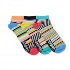 Neon-Streifen Füßlinge Oddsocks Socken in 39-46 im 3er Set