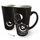 Grinsekatze Kaffeebecher mit Wärmeeffekt