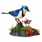 Vogel Stiftehalter mit Sound in blau-weiß