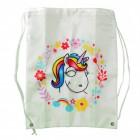 Comic-Einhorn Sporttasche in weiß