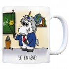 Honeycorns Kaffeebecher mit Einhorn Motiv und Spruch: Sei ein Genie!