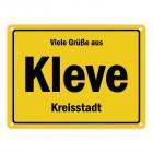 Viele Grüße aus Kleve, Niederrhein, Kreisstadt Metallschild