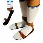 Sandalen Socken - Silly Socks mit aufgedruckten Sandalen