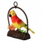 Papagei Dekofigur mit Bewegungssensor