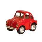 VW Käfer Comic Style Modellauto mit Rückziehmotor in rot