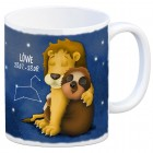 Kaffeebecher mit Faultier Sternzeichen Löwe Motiv