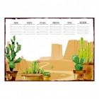 Kaktus und Wüste Wochenplaner mit 25 Blatt