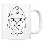 Tassengesichter Kaffeebecher mit Feuerwehr Motiv