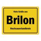 Viele Grüße aus Brilon, Hochsauerlandkreis Metallschild