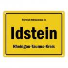 Herzlich willkommen in Idstein, Rheingau-Taunus-Kreis Metallschild