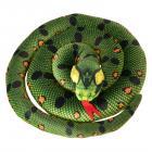 Schlange Kuscheltier mit 1,50m Länge in grün
